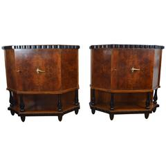 Pair of Small Art Deco Side Cabinets