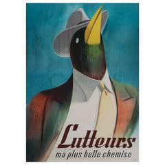 """Vintage Swiss Men's Fashion Poster by """"Libis,"""" circa 1950"""