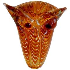 Rare Art Glass Owl by Cenedese
