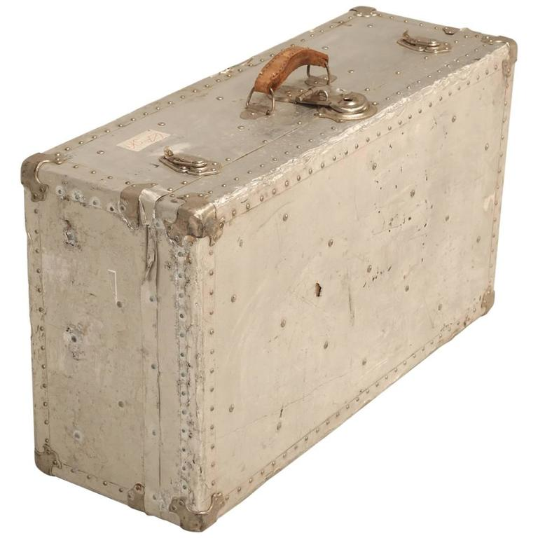French Metal Trunk Could Be Made Into A Coffee Table For Sale At 1stdibs