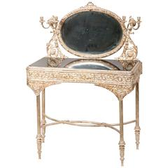 Silvered Bronze Mirrored Dressing Table