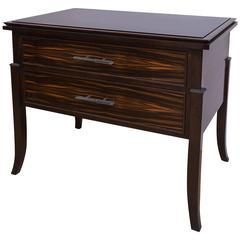 Macassar Ebony Wood Side Table by Gregory Clark