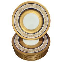 10 Dinner Plates by Cauldon