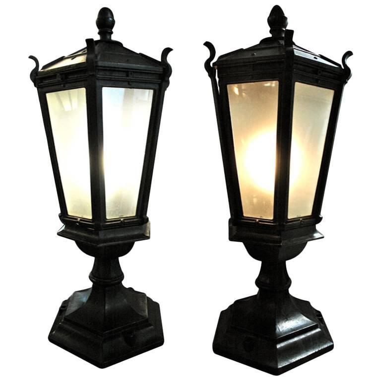 Cast Iron Pier Table Lamps 1