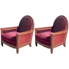 Andre Groult Pair of Club Chairs