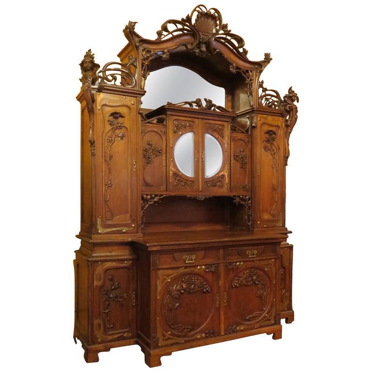 Impressive Art Nouveau Austrian Server Or Back Bar 1