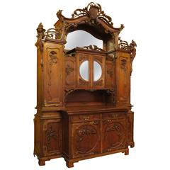 Impressive Art Nouveau Austrian Server or Back Bar