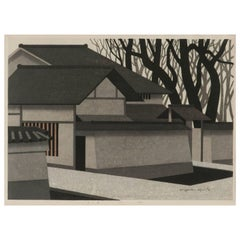 Large Japanese Woodblock Print by Kiyoshi Saito, 1974