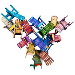 """Colorful Adirondack Chair Jumble"" by Paul Jacobson"