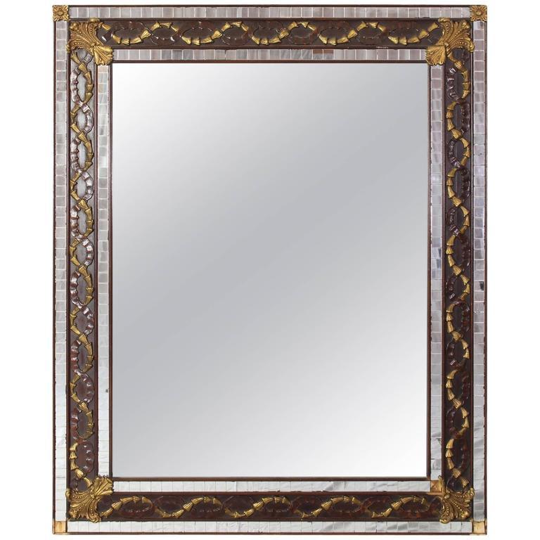 Art Deco Mosaic Mirror For Sale