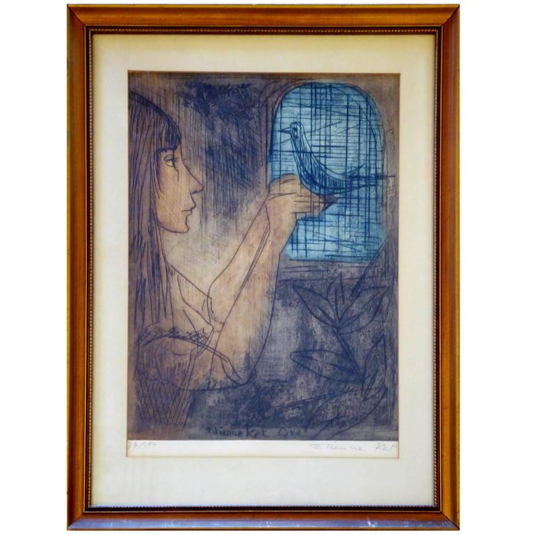 Hand Signed Limited Edition Lithograph by Etienne Ret