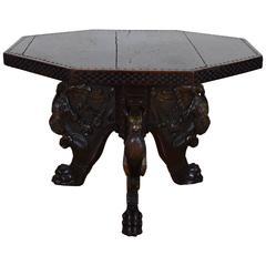Italian Renaissance Walnut Octagonal Center Table, Tuscany, Late 16th Century