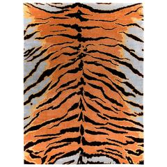 Contemporary 'Tiger' Silk Area Rug