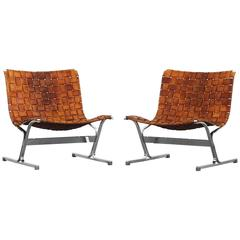 Pair of Beautiful Lounge Chairs by Ross Littell for ICF PLR 1