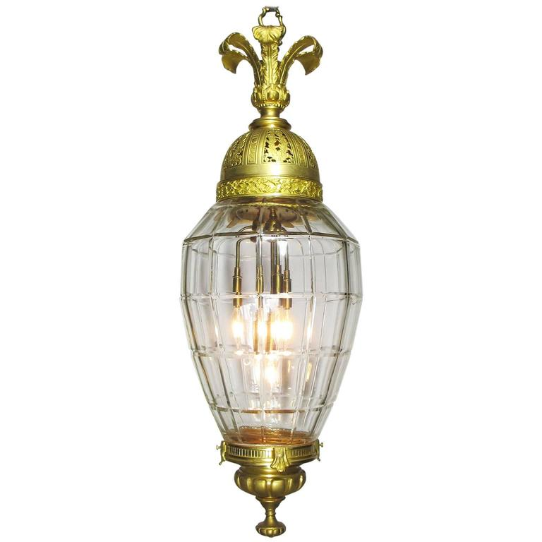 Fine French 19th-20th Century Belle ÉPoque Lantern, Attributed to Baccarat