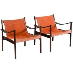 Jorge Zalszupin Pair of Rosewood Lounge Chairs Model 720