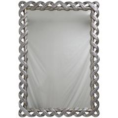 Italian Silvered Wood Mirror