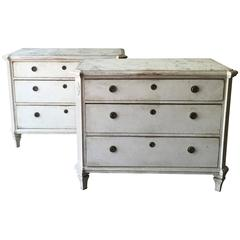 Pair of Swedish 19th Century Gustavian Chests