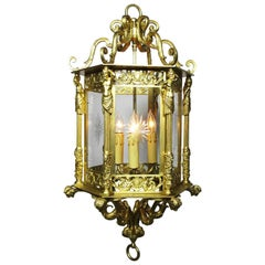 English 19th-20th Century Neoclassical Style Lantern, Attributed to Lenygon
