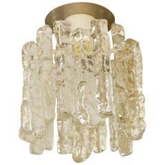 Petite Kalmar Ice Glass Flush Mounted Pendant