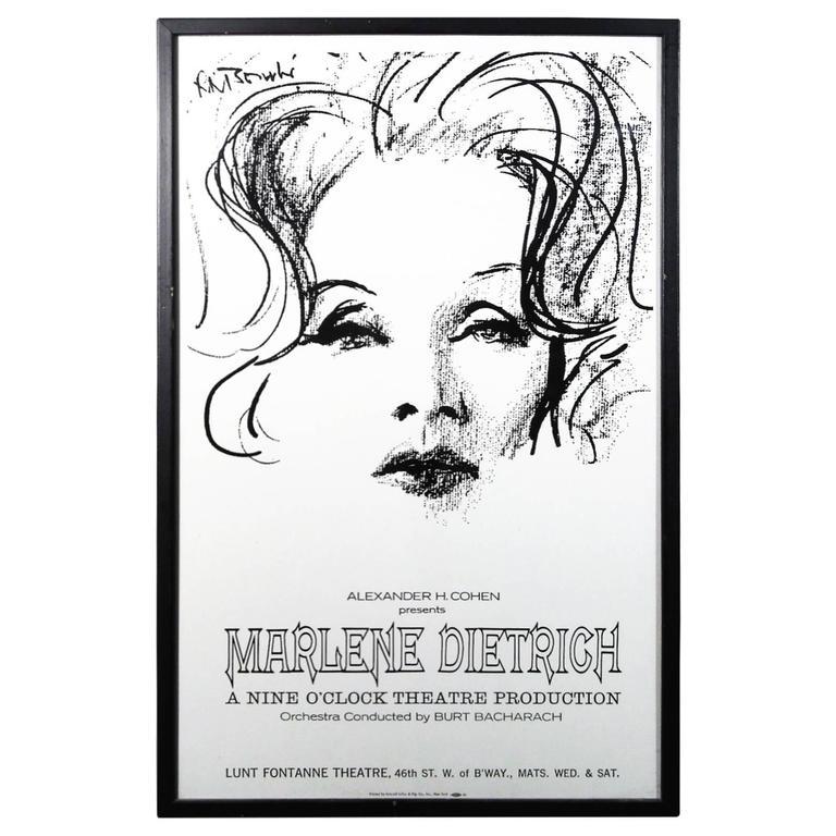 Authentic Original Marlene Dietrich 1967 Show Poster 1
