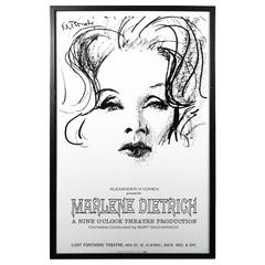 Authentic Original Marlene Dietrich 1967 Show Poster