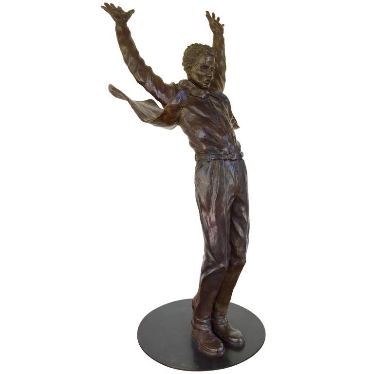 """""""Hanging Ten"""" by Bronze Sculptor Jim Rennert"""