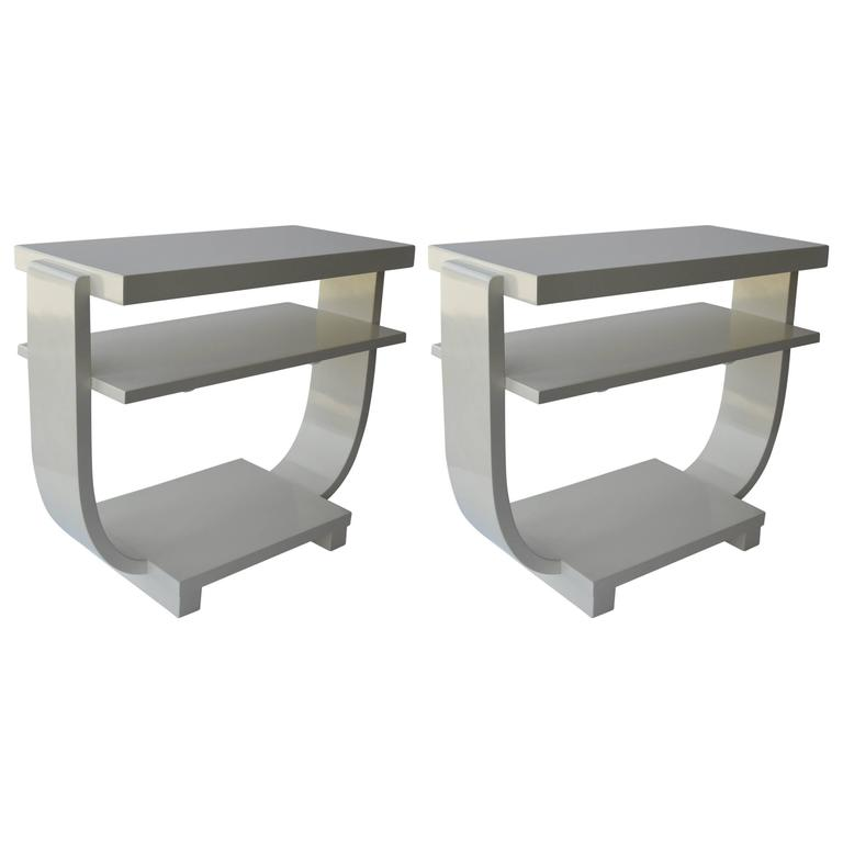 Pair of Italian Art Deco Side Tables