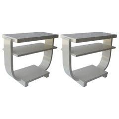 Pair of Italian Art Deco Side Tables