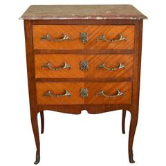 Louis XVI Style Inlay Wood Small Commode