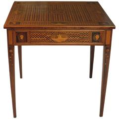 Magiolini Type Italian Inlaid Game Table, Milan, circa 1780