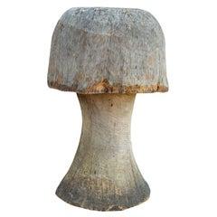 Carved Oak Mushroom