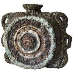 Midcentury Brutalist Inspired Sculptural Ceramic Vase