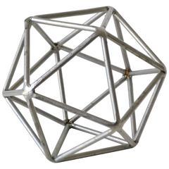 Midcentury Brutalist Inspired Geodesic Sphere Sculpture
