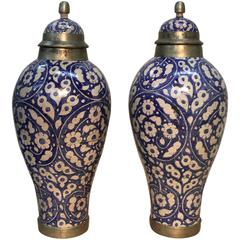 Artisan Made Early 19th Century Moroccan Floor Jars