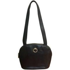 Rare Celine Black Shoulder Clutch Bag