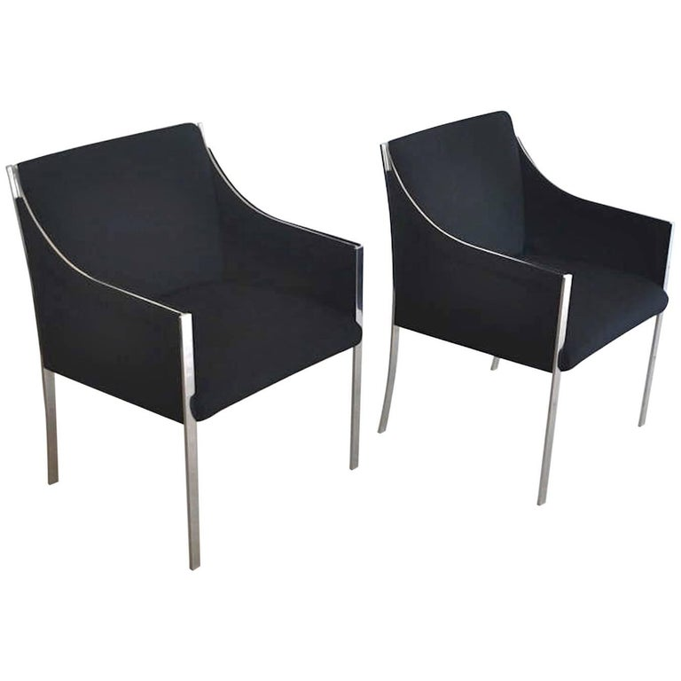 Pair of Midcentury Occasional Chairs or Lounge Chairs by Jens Risom For Sale 1
