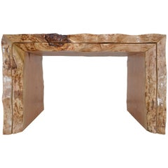 Nesting Tables with Sculptural Live Edge Design Custom Made by Petersen Antiques