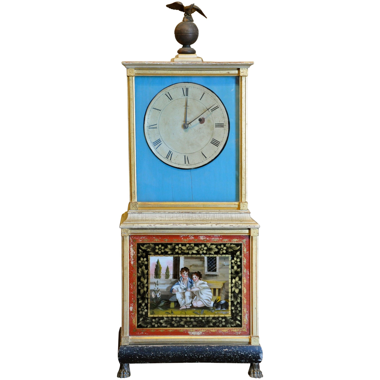 Federal / Classical Lyre Form Banjo Clock, Boston, circa 1810 For ...