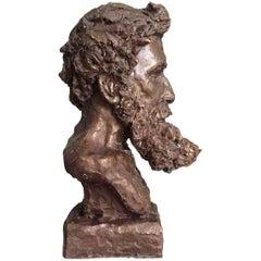 Bronze Bust of Rodin by Sculptor Daniel Altshuler, 2016