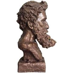 Bronze Bust of Rodin by Sculptor Daniel Altshuler, 2016
