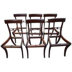 Six Period Regency Mahogany Chairs