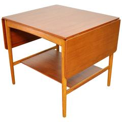 Hans Wegner for Andreas Tuck Teak and Oak Drop Leaf AT-32 Coffee Table