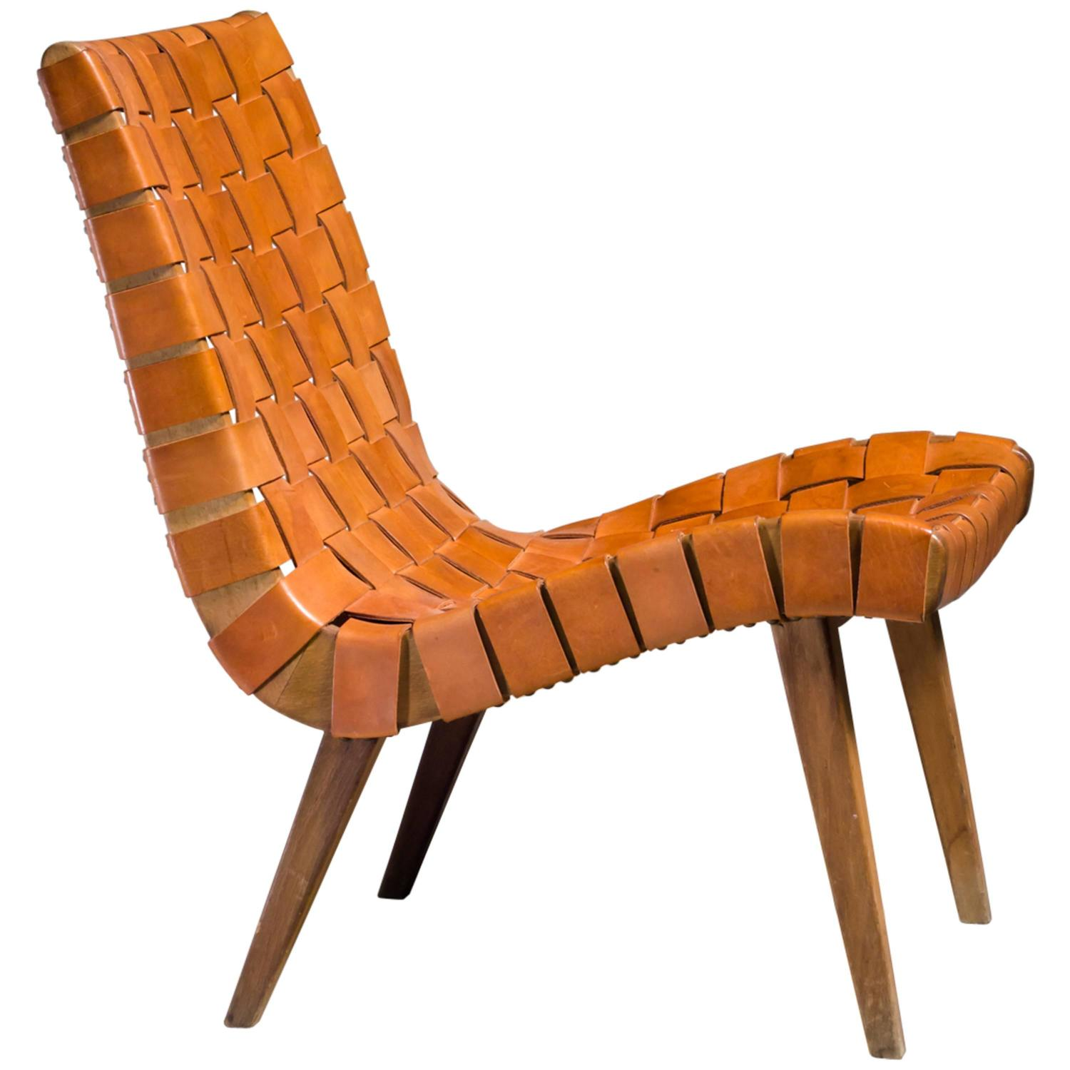 Attrayant Jens Risom Webbed 654w Lounge Chair For Knoll, Germany, 1940s At 1stdibs