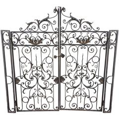 Ornate 19th Century Wrought Iron Garden Gate
