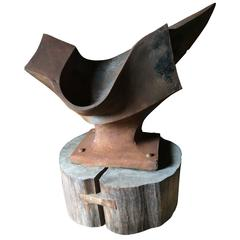 Handsome Original Sculpture of Anvil and Thumbprint