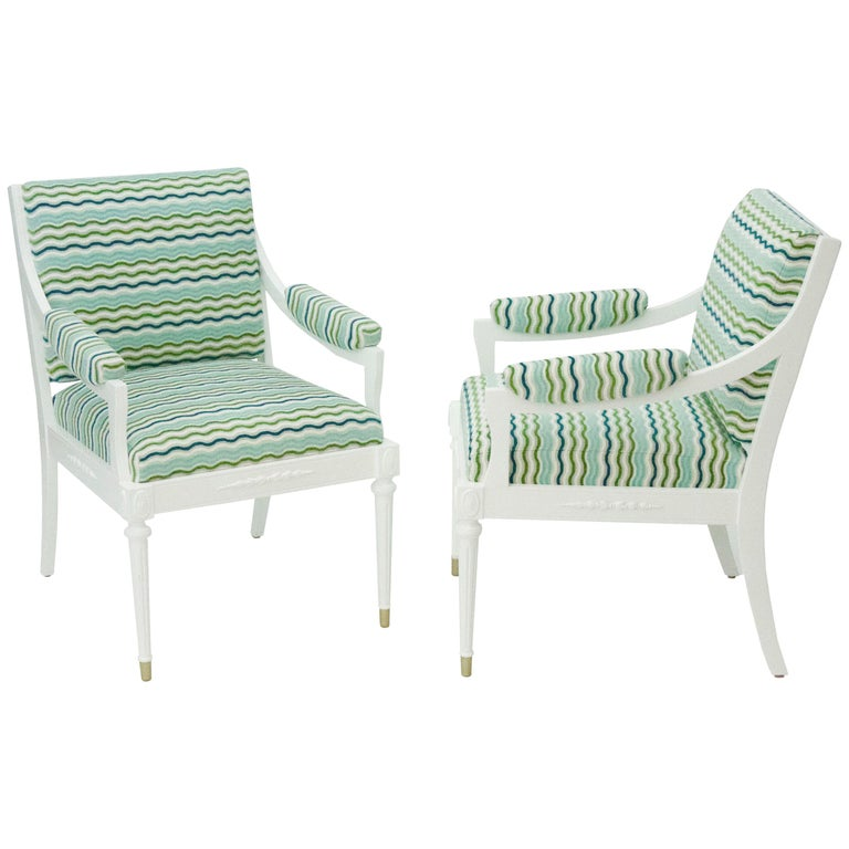 Antique Regency Style Armchairs For Sale