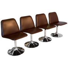 Set of Four Vinga Swivel Chairs by Börje Johanson