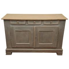 Painted Three-Drawer, Two-Door Buffet