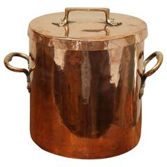 English Copper Pot with Original Lid